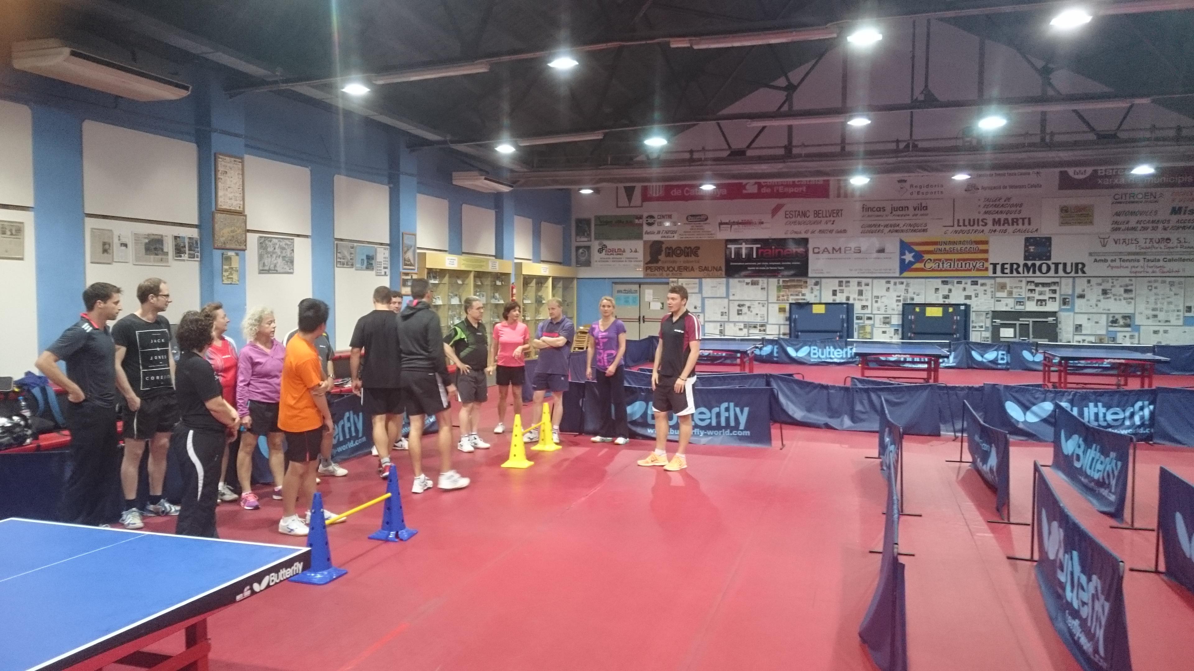 tischtennis lehrgang in calella spanien